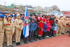 Участие в митинге в честь освобождения города Михайловска и города Ставрополя от немецко-фашистских захватчиков